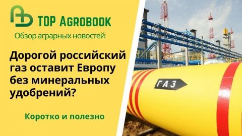 Дорогой российский газ оставит Европу без минеральных удобрений? TOP Agrobook: обзор агроновостей