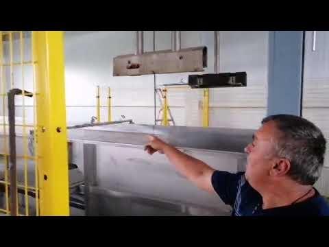 Автоматизированная линия, рассчитанная на сортировку девяти тонн яблок в час