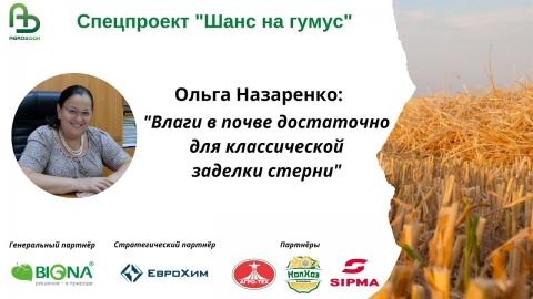 """""""Влаги в почве достаточно для классической заделки стерни"""" Рекомендации Ольги Назаренко"""