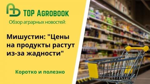 """""""Цены на продукты растут из-за жадности"""" - Мишустин. TOP Agrobook: обзор аграрных новостей"""