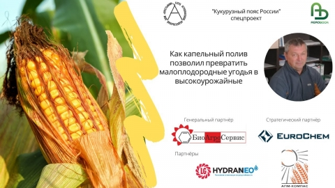 Как капельный полив позволил превратить малоплодородные угодья в высокоурожайные с 15 т/га кукурузы