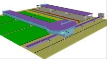АМАК-система с тремя рабочими пролётами